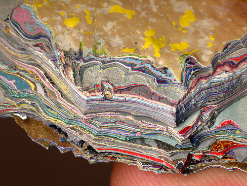 Paint stratigraphy